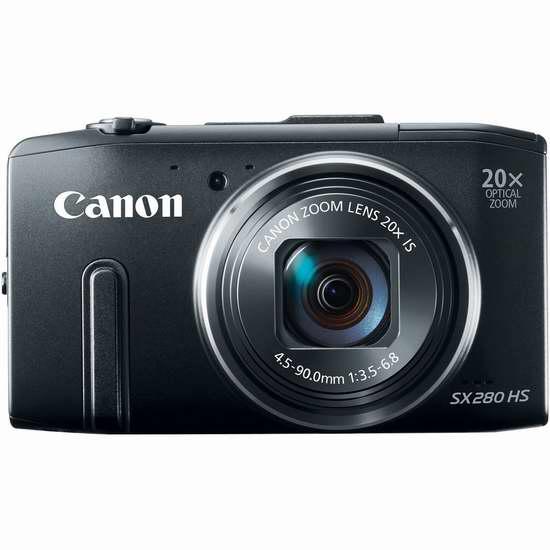 Canon® 'PowerShot® SX280 HS' Digital Camera Bundle性能媲美摄像机支持WiFi/GPS