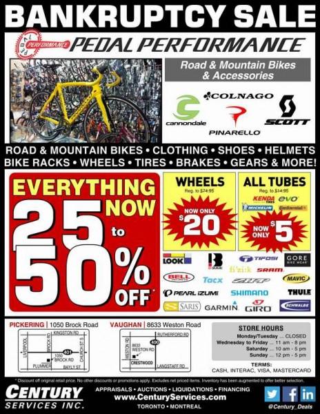 Pedal Performance高端自行车、服饰、鞋子、头盔及相关装备等2.5-5折破产清仓