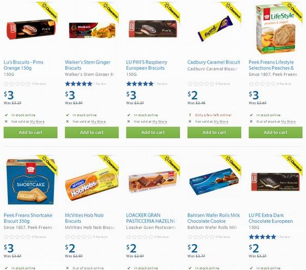 Walmart多款饼干2-3元特卖