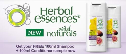 免费天然草本精华洗发液及护发素试用装各100ml