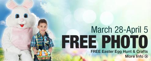 3月28日-4月5日期间与复活节兔子合影免费获赠6寸照片以及多个免费复活节活动