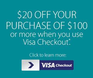 Staples网购使用Visa卡结账,满100元优惠20元
