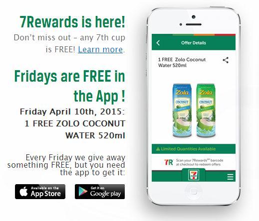 快到7-Eleven领取免费Zolo Coconut Water天然椰子汁,仅限今日!