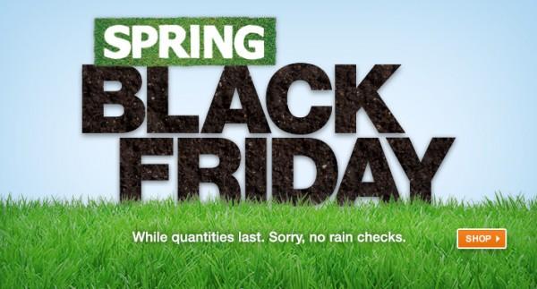 Home Depot 春季黑五特卖,指定款商品5折起特卖,4月12日截止