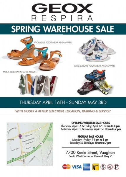 The Geox Spring Warehouse Sale春季特卖会本周四10点开卖,全场2.5折起