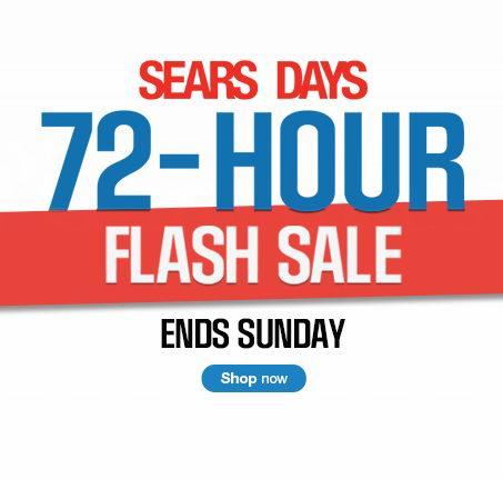 Sears 2千余款指定商品特卖,满49元优惠10元,满99元优惠20%,Sears信用卡用户满59元优惠20元