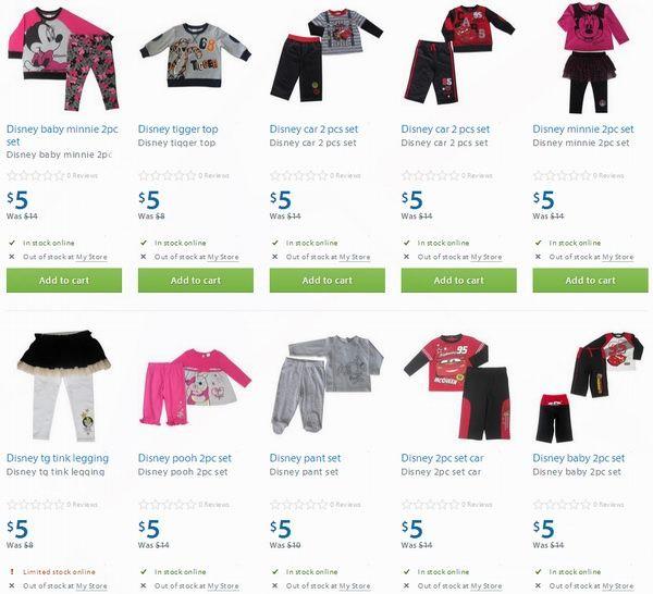 30余款Disney婴幼儿服装3-5元清仓