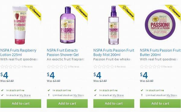 4款NSPA Fruits洗浴类美容品半价4元清仓