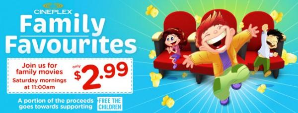Cineplex Family Favourites 6-9月份合家欢电影安排,每周六仅需2.99加元!明日热门新片《Boss Baby》!