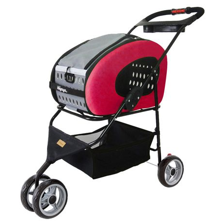 5-in-1 Combo EVA Pink Pet Carrier/Stroller宠物推车/拖箱2折清仓,另有猫粮狗粮特卖