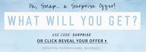 Hollister 清仓区服饰2.5折起特卖,额外随机打7-8折,满100元再优惠15元