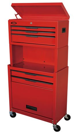 5 Drawer Tool Chest & Cabinet Combo with Storage Riser工具箱