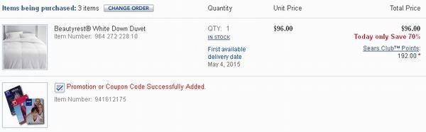 Beautyrest® White Down Duvet 白鸭绒被2.4折特卖
