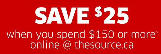 The Source购物满150元优惠25元,仅限4月28日-29日