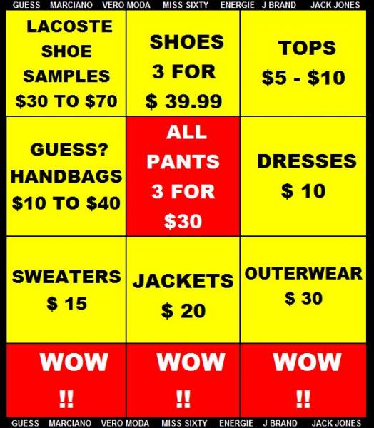 最后一天大清仓!Guess Marciano Warehouse Sale特卖会,服饰鞋包等1-4折清仓