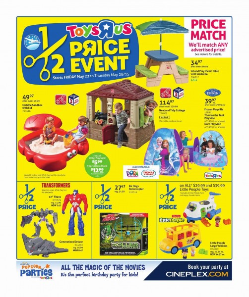 Toys R Us & Babies R Us本周(2015.5.22-2015.5.28)打折海报