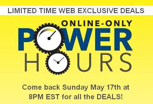 Best Buy Power Hours特卖活动,客厅家具4折,大家电额外8折,吸尘器空调额外8.5折,行李箱2.5折,玩具、解锁手机、电脑、电视等特价销售,本周日晚8时开卖!