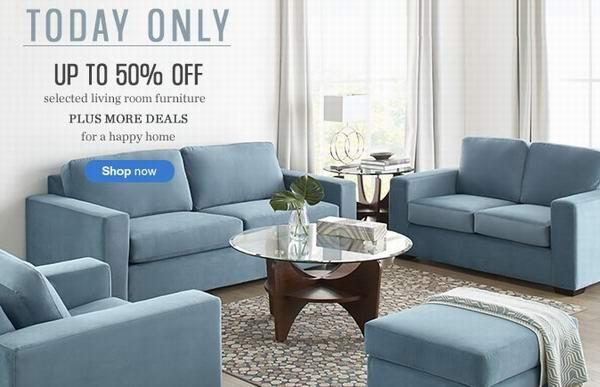 Sears多款床上用品、家具及窗帘4折起特卖