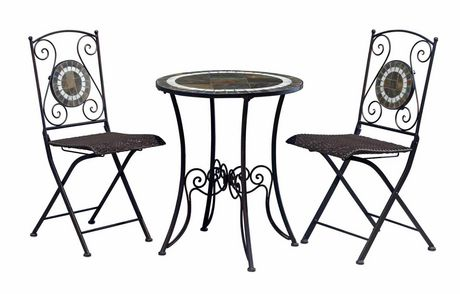Slate Bistro Set室外桌椅三件套