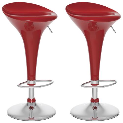 CorLiving Form Fitted Adjustable Bar Stools 吧椅(两只装,5色可选)