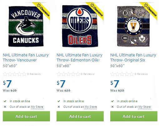 多款NHL Ultimate Fan Luxury Throw毯子7元清仓