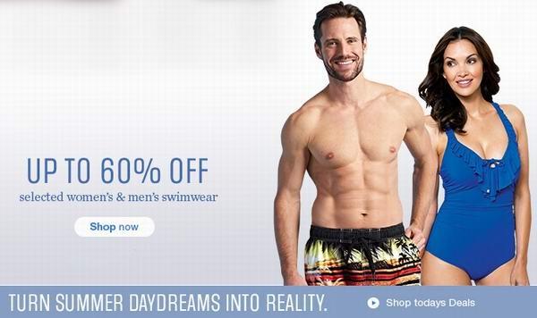 Sears 264款男女泳装4折起特卖