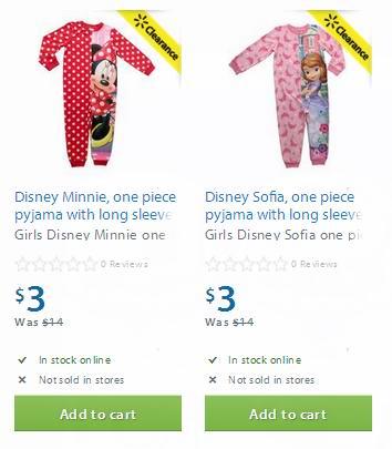 两款Disney婴幼儿睡衣3元清仓