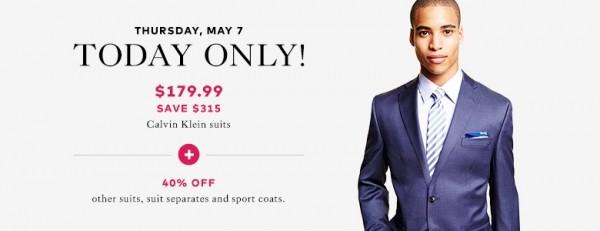 Calvin Klein西装179.99元特卖
