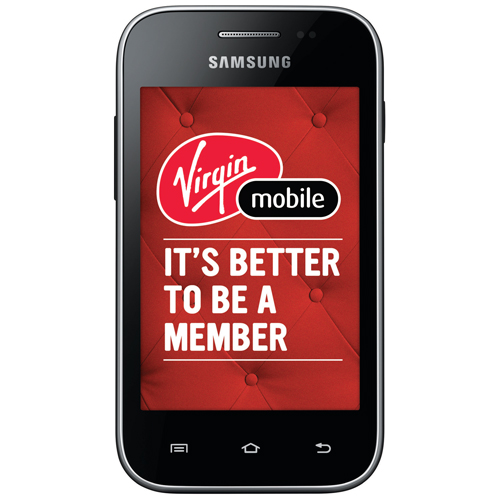 Virgin Mobile Samsung Galaxy Discover Prepaid Smartphone - Black