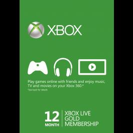 12个月Xbox Live金会员年卡特卖(Xbox One/360)