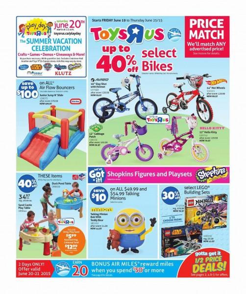 Toys R Us & Babies R Us本周(2015.6.19-2015.6.25)打折海报