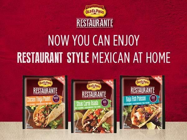 免费Old El Paso Restaurante Seasoning Packs提货券