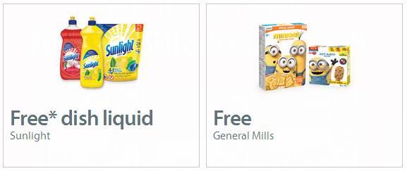 Walmart提供免费General Mills食品及洗碗液提货券