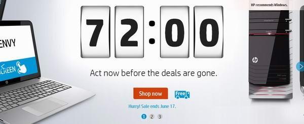 HP网店72小时限时销售,笔记本、电脑、打印机及计算机相关附件特卖