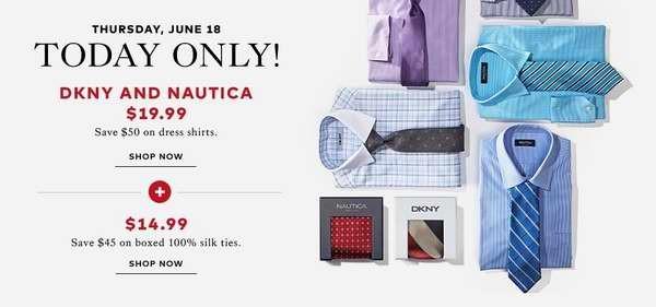 The Bay父亲节特卖活动,衬衣领带全部2.5-2.8折,仅限今日!