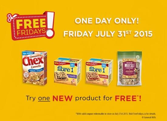免费价值12.58元General Mills Cereal提货券,仅限7月31日星期五提货