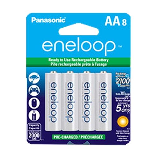 Panasonic Eneloop AA及AAA充电电池8只装19.99元特卖