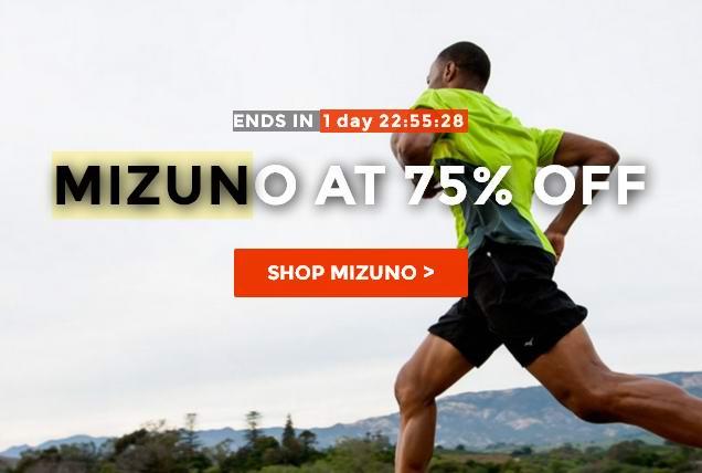 Mizuno美津浓运动服饰全面2.5折清仓