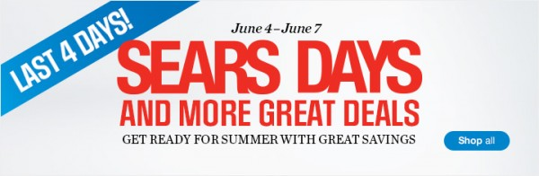 Sears Days 4天特卖活动,全站3折起