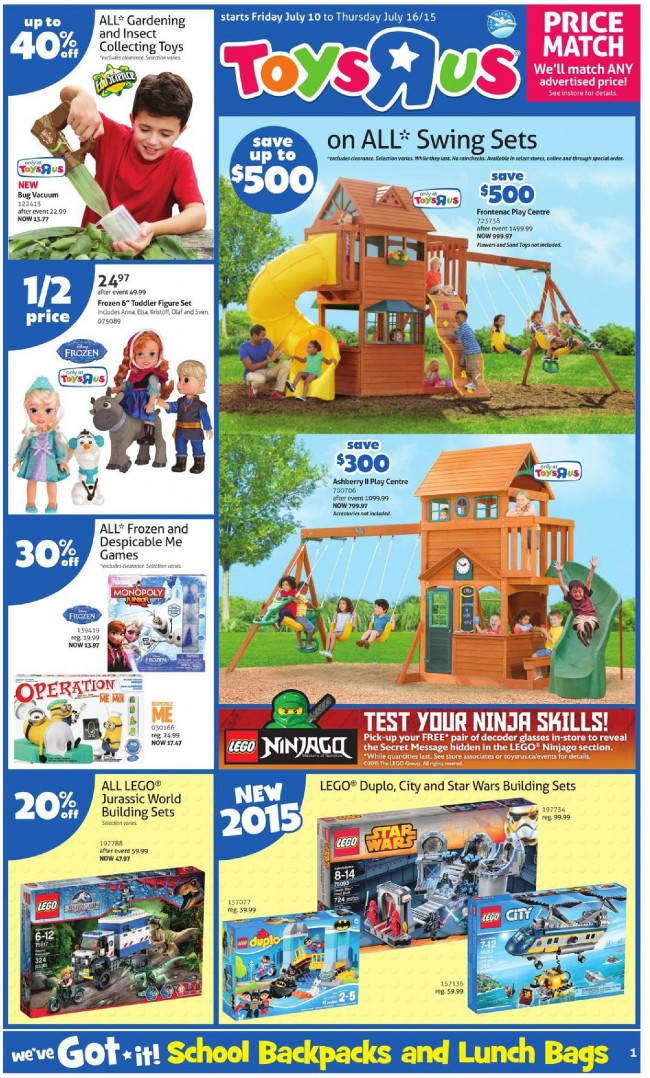 Toys R Us & Babies R Us本周(2015.7.10-2015.7.16)打折海报