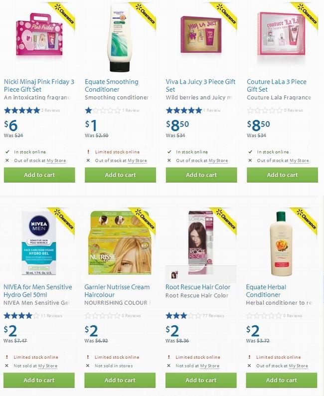 Walmart多款香水、染发剂、洗护发液等2.5折起清仓
