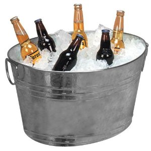 Home Trends Galvanized Party Tub, 16 inch 冰桶