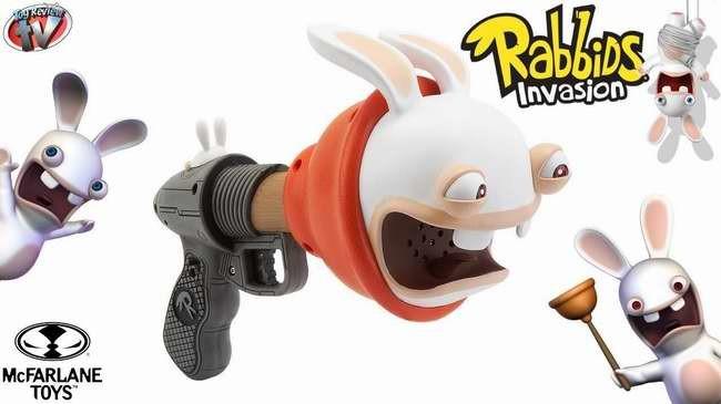 RABBIDS SUPER PLUNGER BLASTER 2 疯狂的兔子整蛊玩具手枪