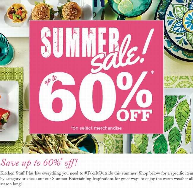 Kitchen Stuff Plus夏日特卖4折起,另精选23款厨房及家居用品4-6折特卖,8月3日截止