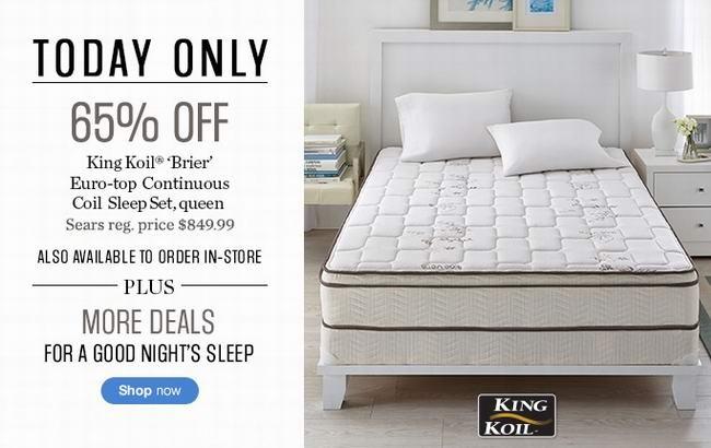 King Koil Brier Euro Top床垫及床垫组合3.5折特卖
