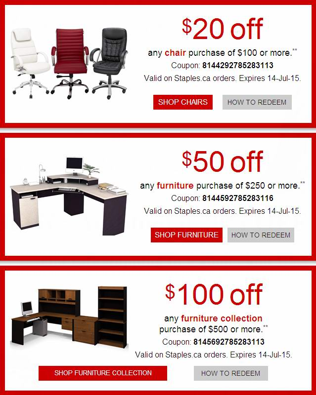 Staples 办公家具特卖,额外再优惠20-100元