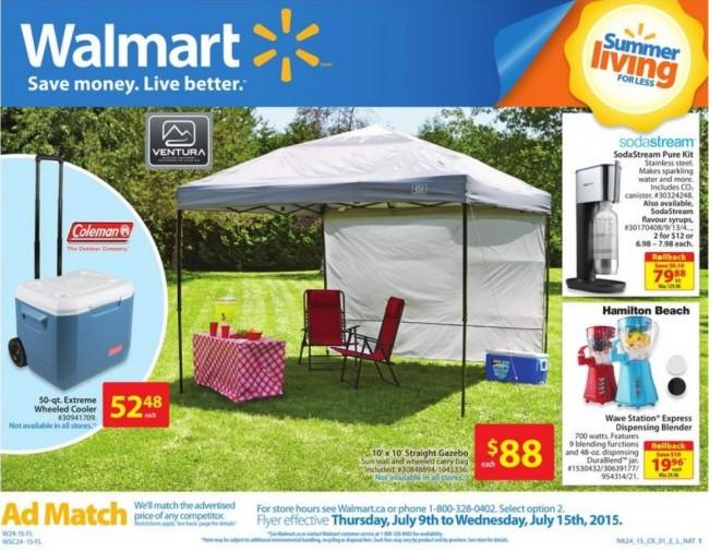 Walmart超市本周(2015.7.9-2015.7.15)打折海报
