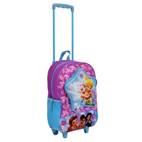 Disney Fairies Wheeled Backpack迪士尼女童拉杆书包