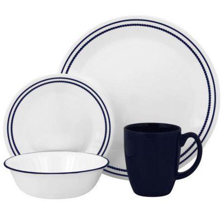Corelle ® Livingware™ Breathtaking Blue Beads 16pc Dinnerware Set康宁16件套餐具套装