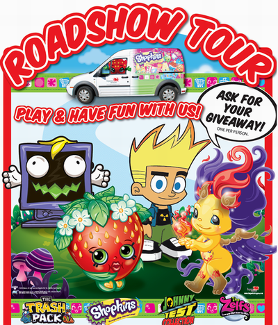 Toys R Us玩具反斗城今日起开始暑假零售店巡演,现场送玩具一份